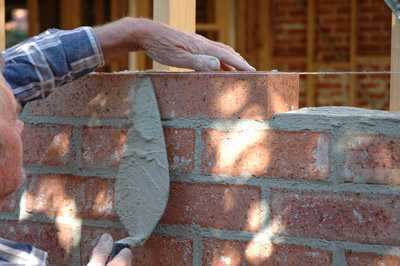 Harpers Construction Job bricklayer