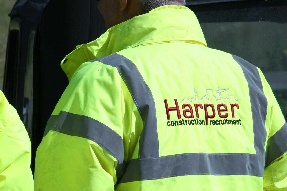 Harpers Construction Job Hi Viz Jacket